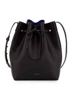 Vegetable-Tanned Leather Mini Mini Bucket Bag by Mansur Gavriel at Bergdorf Goodman. Women's Crossbody Purse, Tote Bag, Mansur Gavriel Bucket Bag, Minimalist Bag, Minimalist Living, Branded Bags, Vegetable Tanned Leather, Calf Leather, Leather Pouch