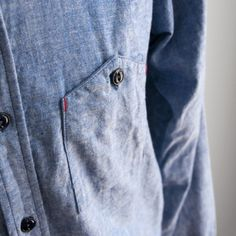 Engineered Garments - Work Shirt - Blue Chambray - Indigo & Cotton