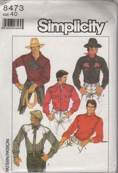 Price Mccall S 6938 Western Shirt Pattern Vintage