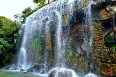 Waterfall in Nice, France.
