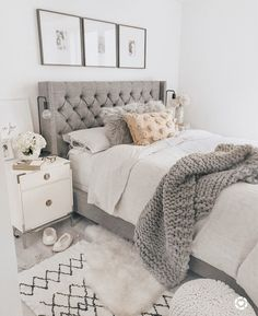40 Chic Bedroom Decorating Ideas for Teen Girls Teen Room Decor Ideas Bedroom Ch. - 40 Chic Bedroom Decorating Ideas for Teen Girls Teen Room Decor Ideas Bedroom Chic decorating Girls - Teen Room Decor, Room Ideas Bedroom, Cozy Bedroom, Dream Bedroom, Trendy Bedroom, Bedroom Bed, Bedroom Modern, Grey Bed Room Ideas, Bedroom Ideas For Girls