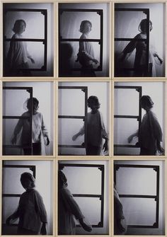 Helena Almeida, Toile habitée, 1976, neuf photos, ch. 43x33cm