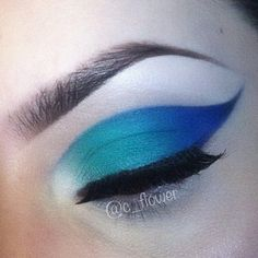 Used revlons vintage lace eyeshadow, then coastal scents vibrant blue green and indigo blue. Nyx milk as the base.  - @c_flower