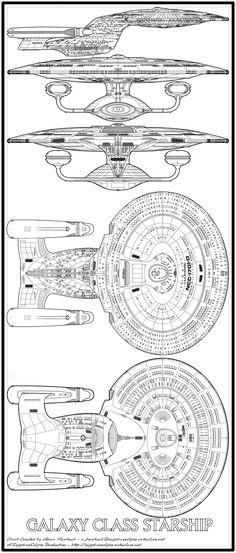 Star Trek TNG Ncc1701d diagram.