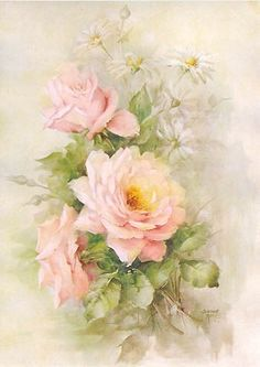 Art Print, A Handful of French Pink Roses, Catherine Klein, Shabby Chic Decor