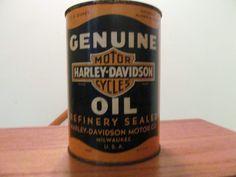 ... Vintage 1930 1940 Harley Davidson Oil Can Genuine Antique RARE   eBay