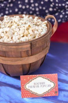 Rosemary Parmesan gourmet popcorn