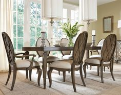 This elegant dining room set has plenty of room for you to welcome family and friends! It expands to a full 96 inches, giving extra guests a special seat at the table. Bring this well-crafted piece into your home as a gorgeous centerpiece for a dining experience.