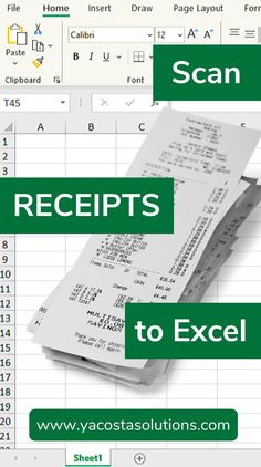 Scan receipts to Excel by using the Data From Picture tool. All you need is a smartphone or tablet to scan and convert printed data into Excel. Computer Basics, Computer Help, Computer Programming, Computer Tips, Computer Science, Excel Tips, Excel Hacks, Excel Budget, Vba Excel