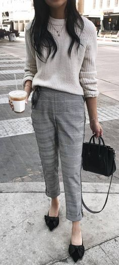7d06260796f 30 Great Fall Fashion Outfit Ideas   Trends. Grey Pants OutfitDress ...