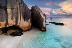 La Digue Island - Seychelles La Digue is the Seychelles third largest island, by population. people live on La Digue, mostly in villages on the western coast. The island is home to a number of. Oh The Places You'll Go, Places To Travel, Places To Visit, Travel Things, Beautiful World, Beautiful Places, Beach Fun, Wonders Of The World, Cool Photos