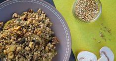 Poêlée de graines de sarrasin aux champignons (vegan). Une excellente poêlée fort originales. La recette par Myrtee.fr.