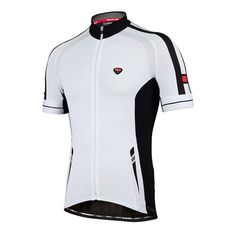Short - sleeved cycling jersey Rekord in white, by Bicycle Line Italy