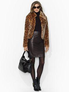Leopard-Print Jacket - Outerwear  Women - RalphLauren.com