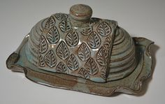 Stoneware Butter Dish by AmyMansonPottery on Etsy