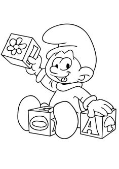 amazing smurf coloring pages free coloring pages for kids.html
