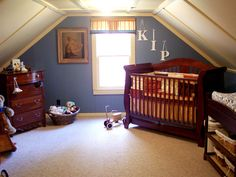 16 Amazing Attic Remodels: Got a new family member on the way? Attics are great for kids of all ages. The smaller ones aren't hindered by the lower ceilings and older kids like having their own space away from the parental units.  From DIYnetwork.com