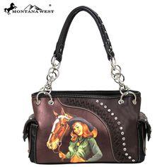 Montana West Vintage Cowgirl Collection Handbag with Chain Handles – Handbag Addict.com