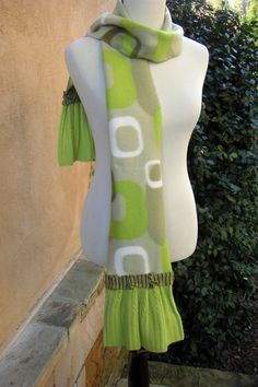 Ladies or Girls Fleece ScarfLime by EchoClothingCompany on Etsy