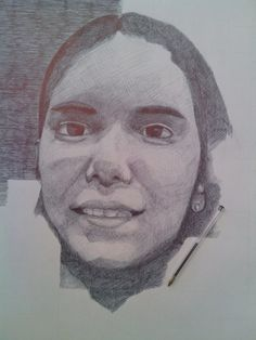 Retrato a caneta BIC by Jorge Antunes, via Behance