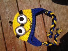 Minion Inspired Hat by CrazyLeggies on Etsy, $16.00