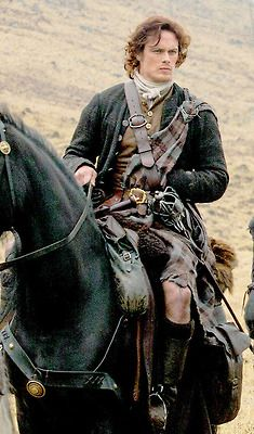 Jamie on a horse. Strapping young man indeed