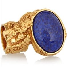 Yves Saint Laurent Arty Ring in Cobalt Blue Rare Yves Saint Laurent Arty Ring in Cobalt Blue. This is totally sold out and can not be found anywhere. Size 8.   This was a gift and never worn and still in perfect  condition! I do not save the box or dust bag.   Reasonable offers are always considered Smoke and pet free home No PayPalNo Trades Yves Saint Laurent Jewelry Rings
