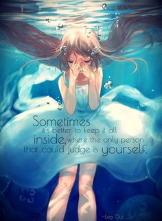 I know i posted something that says the same thing but I love the different picture so I'm reposting it ; Sad Anime Quotes, Manga Quotes, True Quotes, Best Quotes, A Silent Voice, Depression Quotes, Amazing Quotes, In My Feelings, Anime Manga