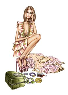 Fashion Sketch #bocetos #moda