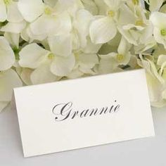 Traditional Place Card