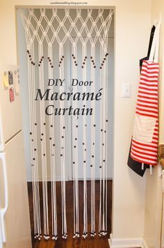 DIY Macrame room divider and door cutain.