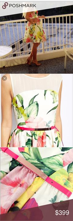 Ted Baker floral dress Worn a couple times. But it is in a very good condition like new 👗gorgeous Ted Baker dress in Ted size 2 so it is US size 6. Too small for me unfortunately ☹️ Ted Baker London Dresses Midi