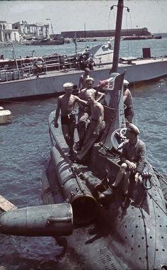 Italian Submarine, Crimea by Horst Grund
