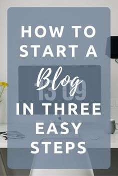 How to start a blog in three easy steps. Starting a successful, profitable blog is so easy. Follow these 3 steps and in 15 minutes you can have your own blog.