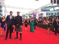 It's getting busy on the #Emmys red carpet. Question though...is @mrsilverscott a true Scott!?