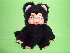 nyamy doll kiki moncicci monchicchi cat nero gattino 18cm peluche plush vintage | eBay
