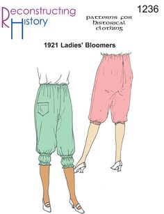 Buy this authentic Bloomers pattern from 1921 and make the perfect 20s undies! Based on an original pattern from 1921, these bloomers are the essential underthing for your jazz age dresses and frocks.  Elastic waist and kneebands make them super comfortable.   Make a silk version with lovely ribbon and lace or make them supremely functional in …