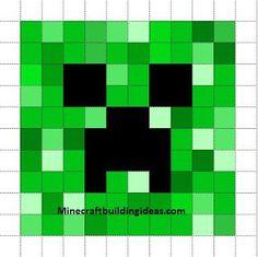 Minecraft Pixel Art Templates: Creeper (For Jake and Rudy) Minecraft Pixel Art, Minecraft Crafts, Minecraft Templates, Minecraft Quilt, Minecraft Pattern, Pixel Art Templates, Minecraft Bedroom, Creeper Minecraft, Minecraft Cake Pops