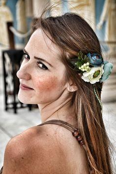 Spring Love El Yapımı Çiçekli Saç Bandı - Saç Aksesuarı 224651   zet.com