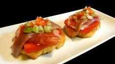 Cocinar para los amigos: Pintxo de jamón, tomate y anchoa