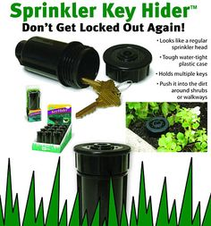 """$1.99 sprinkler hide a key  SEPTEMBER: Hide-a-key – """"Shannon is the key to your next real estate deal!"""""""