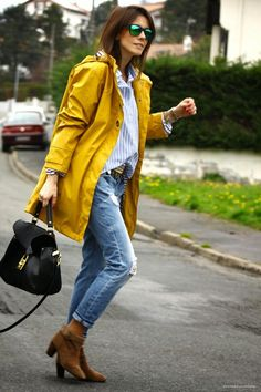 Image result for yellow raincoat
