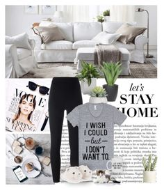 """""""Being lazy..."""" by dezaval ❤ liked on Polyvore featuring Jan Kurtz, WALL, Lux-Art Silks, adidas Originals and Allstate Floral"""