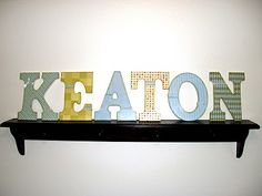 Mod Podge Paper to Wood Letters