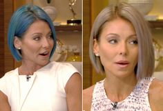 New Hair 2015: See Celebrity Hair Makeovers | InStyle.com Kelly Ripa lightened up to a pastel opal tone.
