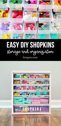 This DIY solution for organized Shopkins storage is so easy! This DIY solution for organized Shopkins storage is so easy! Barbie Storage, Barbie Organization, Doll Storage, Laundry Room Organization, Kids Storage, Storage Organization, Storage Ideas, Lego Storage, Shopkins Room