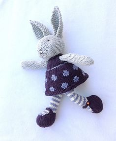 Ravelry: bunny girl in a dotty dress by Julie Williams
