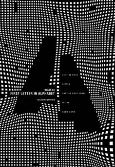 Posters with letter A by Evdokimov Gosha