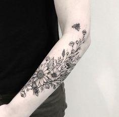 Dream tattoos, sleeve tattoos, body art tattoos, tatoos, flower tattoo on. Dream Tattoos, Cute Tattoos, Leg Tattoos, Body Art Tattoos, Tatoos, Tattoos Pics, Tattoos Gallery, Tattoo Fleur, Botanisches Tattoo