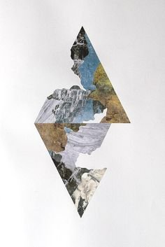 A3 paper collage. by Robert Colquhoun. combination of geometric,natural forms…